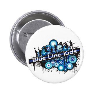 Blue Line Kids 2 Inch Round Button