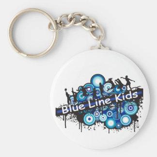 Blue Line Kids Basic Round Button Keychain