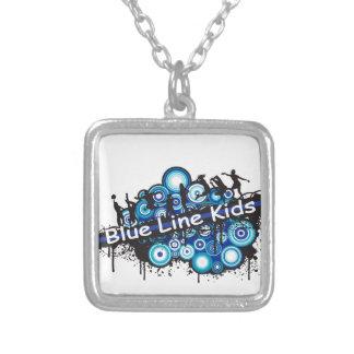 Blue Line Kids Square Pendant Necklace