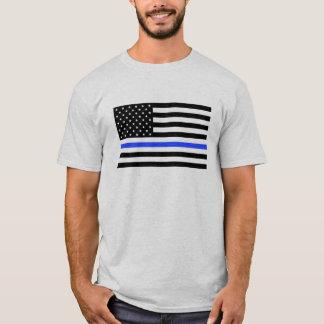 Blue Line Men's Shirt Flag Officer