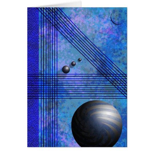 Blue Line Pattern Card