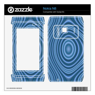 Blue line pattern decals for nokia n8