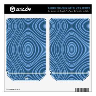 Blue line pattern FreeAgent GoFlex skins