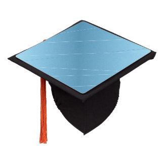 Blue Line Print Graduation Cap Topper