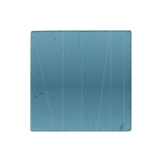 Blue Line Print Stone Magnet