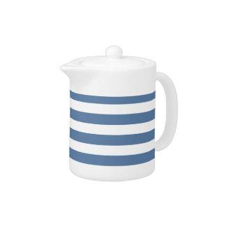 Blue Line Tea Pot