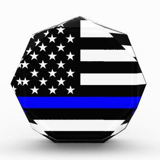 Blue Line US Flag Acrylic Award