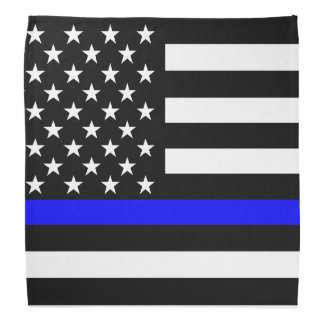 Blue Line US Flag Bandana