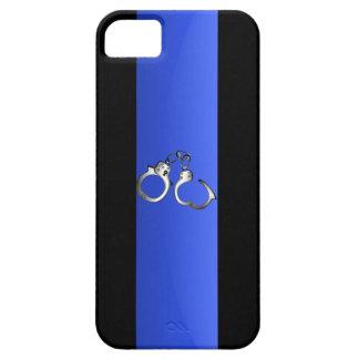 Blue Line y esposas finos iPhone 5 Protector