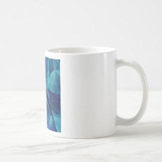 Blue Linear Mesh Coffee Mug