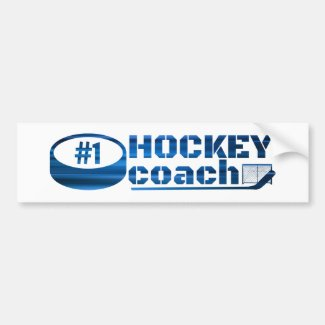 Blue lines - #1 hockey coach bumper sticker