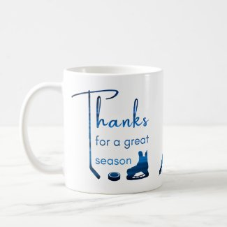 Blue lines - Best hockey coach Coffee Mug
