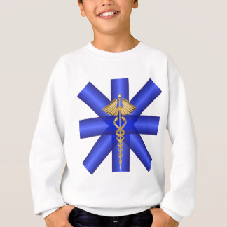 Blue Lines / Gold Caduceus EMT Symbol Sweatshirt