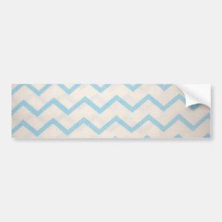 blue lines in zig zag bumper sticker