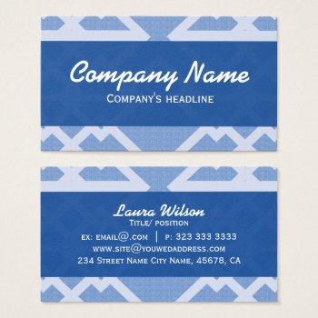 Blue Lines Pattern Elegant Professional Business Card by RainbowChild_Art at Zazzle