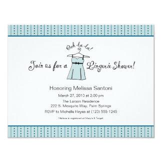 Blue Lingerie Bridal Shower Invitation