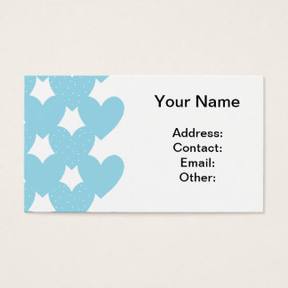 Blue Linked Hearts Business Card