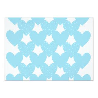 Blue Linked Hearts Card