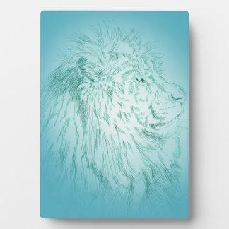 Blue Lion ~ 5x7 Plaque
