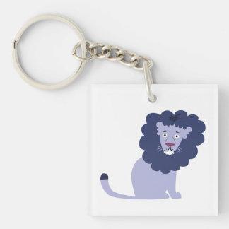 Blue lion blue keychain
