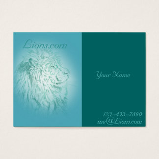Blue Lion ~ Chubby Business Card