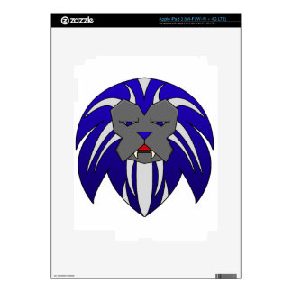 Blue Lion Decal For iPad 3
