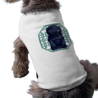 Blue Lion Dog Pixel Art Tee