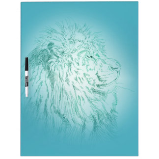 Blue Lion ~ Dry Erase Board