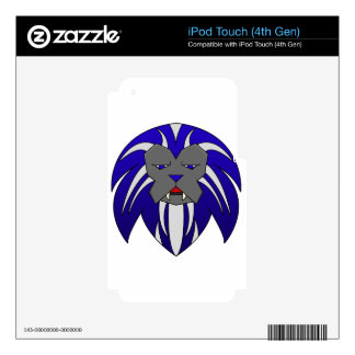 Blue Lion iPod Touch 4G Decals