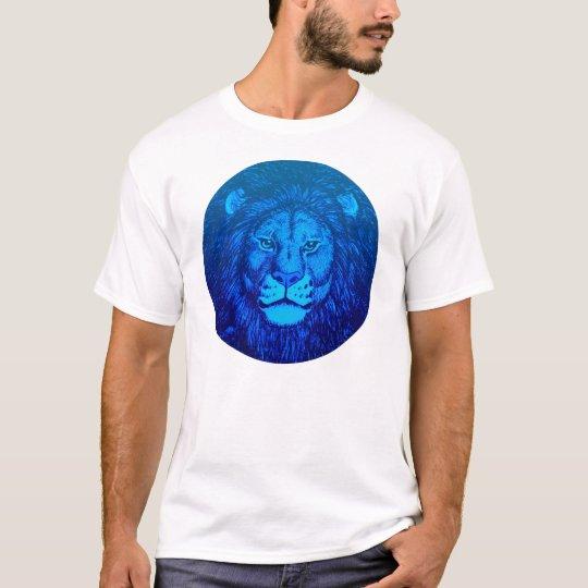 Blue Lion Portrait T-shirt