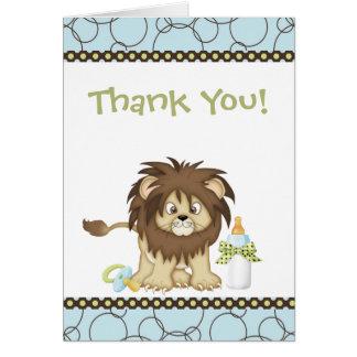 Blue Lion Thank You Card