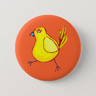 Blue Lipped Chick Pinback Button