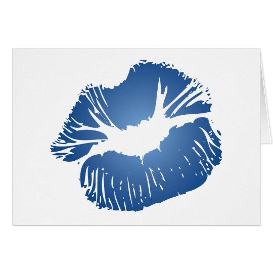 Blue Lips Card