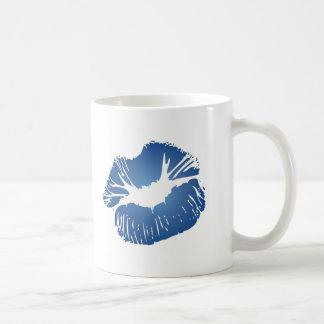 Blue Lips Coffee Mug