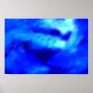 Blue Lips - Hot Kiss Poster