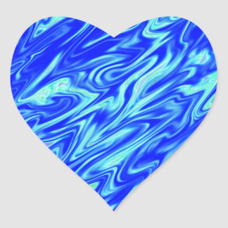 Blue Liquefied Customizable Heart Sticker