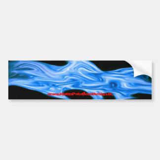 Blue Liquid Fire Bumper Sticker