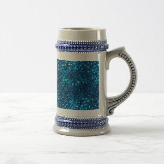 Blue Liquid Ocean pearls Beer Stein