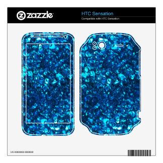 Blue Liquid Ocean pearls HTC Sensation Decal