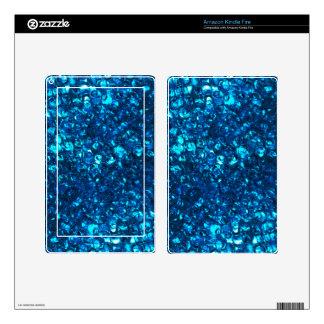 Blue Liquid Ocean pearls Skin For Kindle Fire