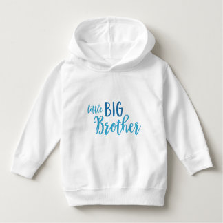 Blue Little Big Brother Toddler Pullover Hoodie