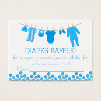 Blue Little Clothes Diaper Raffle Tickets