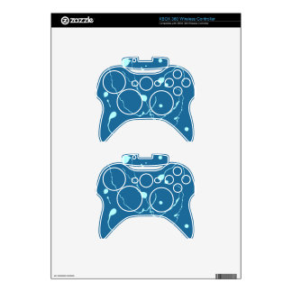 Blue Little Collecton Xbox 360 Controller Skin