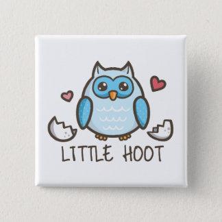 Blue Little Hoot Button