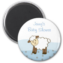 Blue Little Lamb Party Favor Magnets