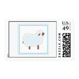 Blue Little Lamb Postage Stamp