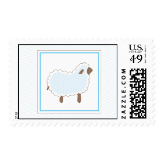 Blue Little Lamb Postage Stamp