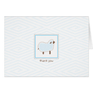 Blue Little Lamb Thank You Card