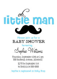 Mustache baby shower invitations announcements zazzle blue little man mustache baby shower invitation filmwisefo Gallery