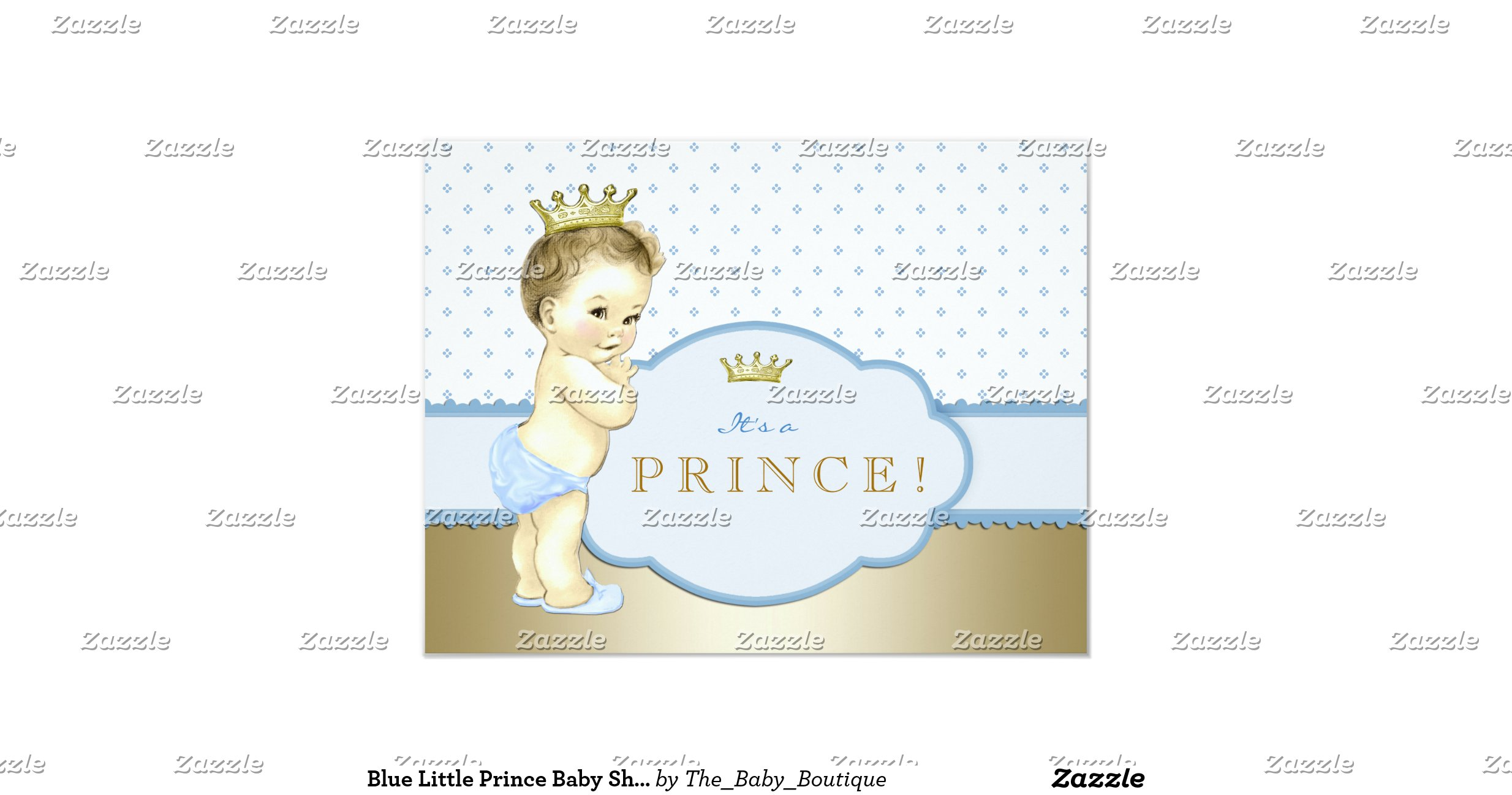 blue little prince baby shower paper invitation card zazzle
